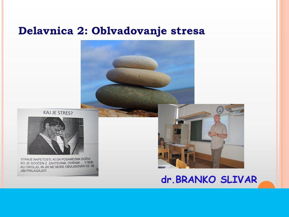 Delavnica 2: Oblvadovanje stresa dr.BRANKO SLIVAR