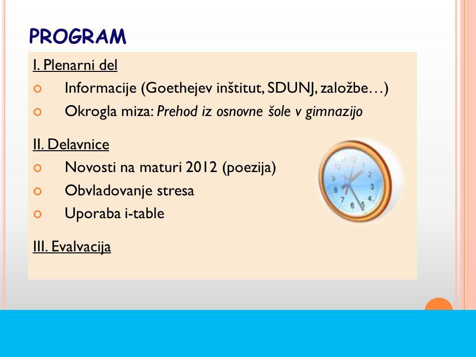 PROGRAM I.