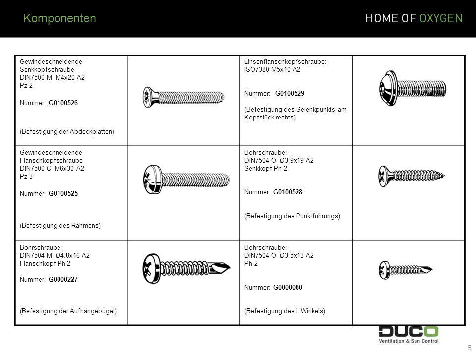 Gewindeschneidende Senkkopfschraube DIN7500-M M4x20 A2 Pz 2 Nummer: G0100526 (Befestigung der Abdeckplatten) Linsenflanschkopfschraube: ISO7380-M5x10-