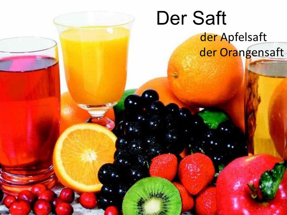Der Saft der Apfelsaft der Orangensaft