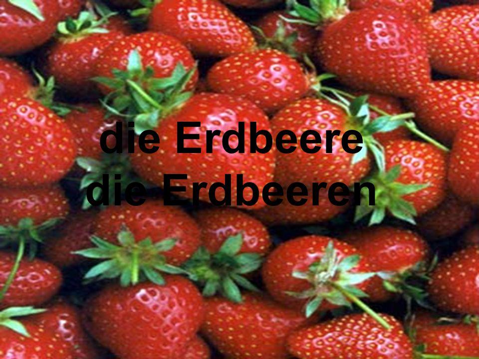 die Erdbeere die Erdbeeren