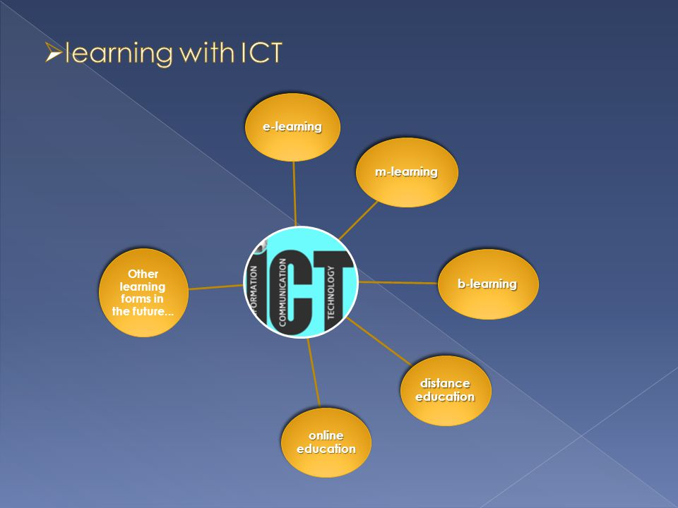  The advantages of informal learning and learning with help of ICT should support learning in schools and learning in general.