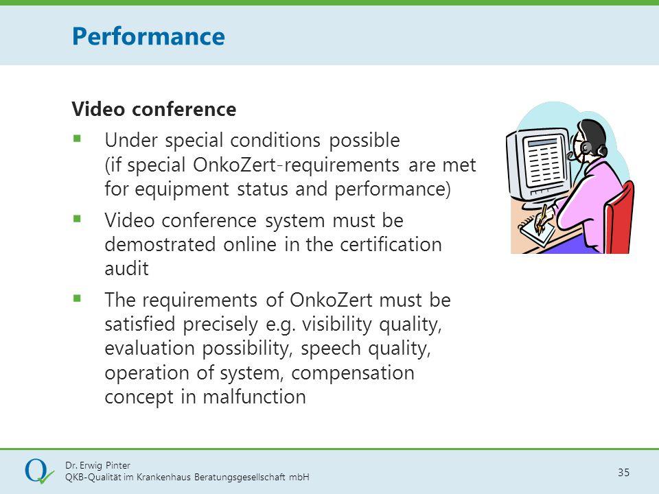 Dr. Erwig Pinter QKB-Qualität im Krankenhaus Beratungsgesellschaft mbH 35 Video conference  Under special conditions possible (if special OnkoZert-re