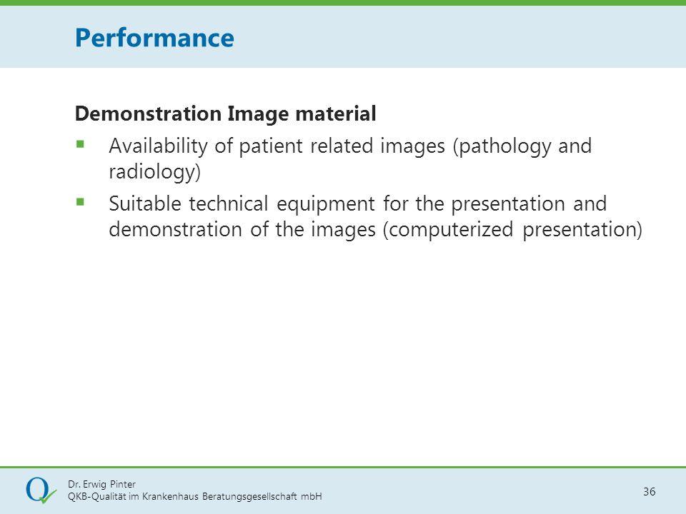 Dr. Erwig Pinter QKB-Qualität im Krankenhaus Beratungsgesellschaft mbH 36 Demonstration Image material  Availability of patient related images (patho