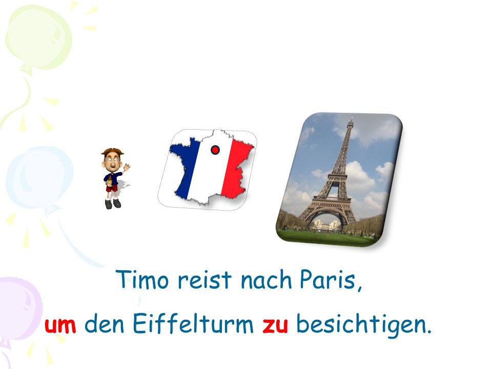 Timo reist nach Paris, um den Eiffelturm zu besichtigen.