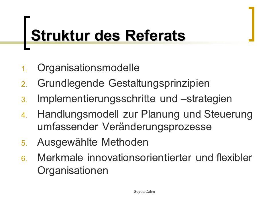 Seyda Calim Einstieg Veränderungsprozesse in Organisationen führen dann zum Erfolg, bzw.