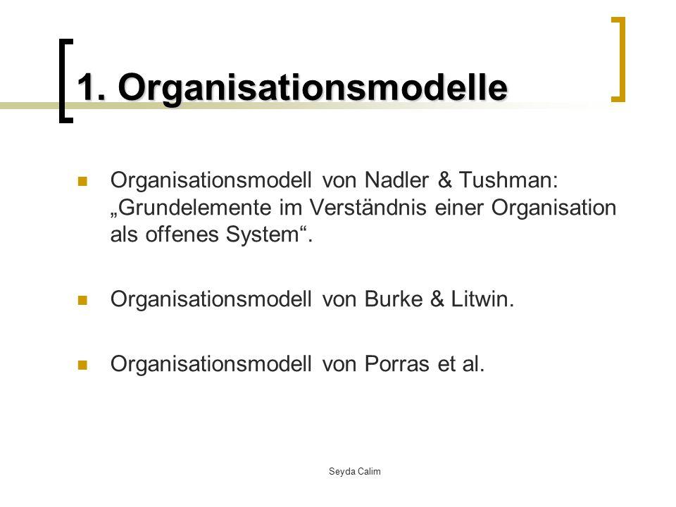 Seyda Calim 1.Organisationsmodelle Organisationsmodell nach Porras et al.