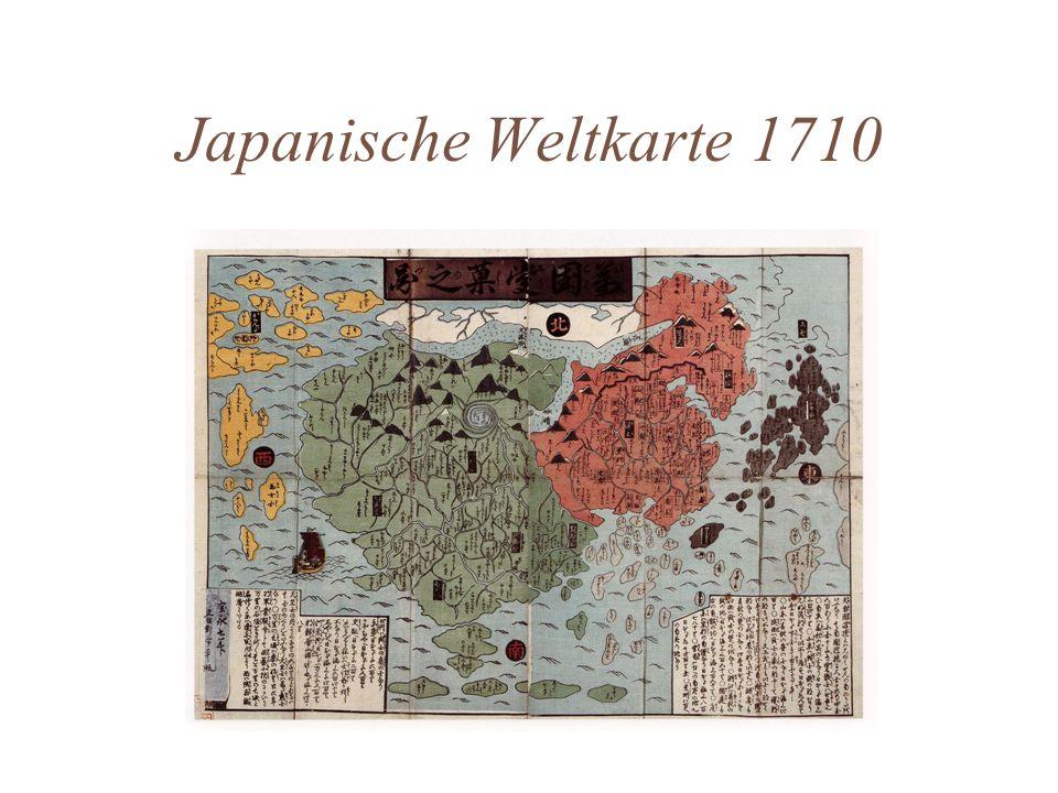 Japanische Weltkarte 1710