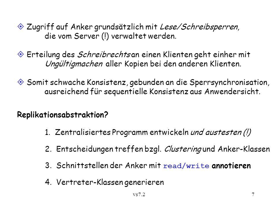 vs7.27  Zugriff auf Anker grundsätzlich mit Lese/Schreibsperren, die vom Server (!) verwaltet werden.