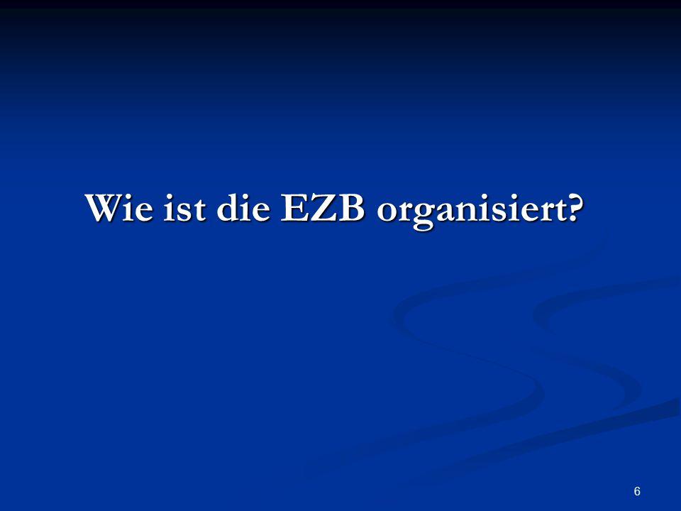 6 Wie ist die EZB organisiert?