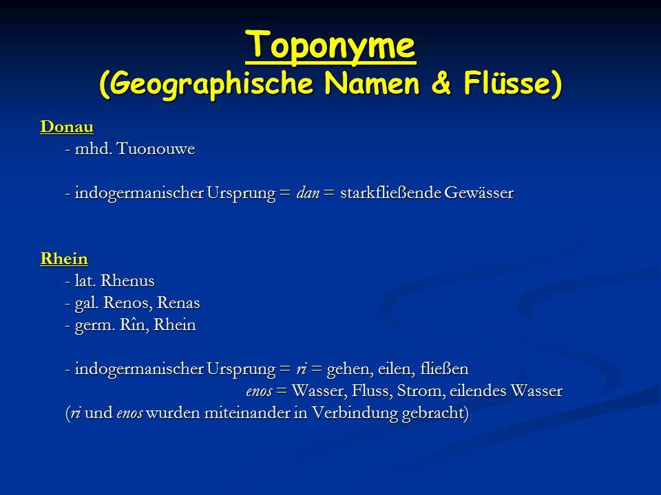 Toponyme (Geographische Namen & Flüsse) Donau - mhd.