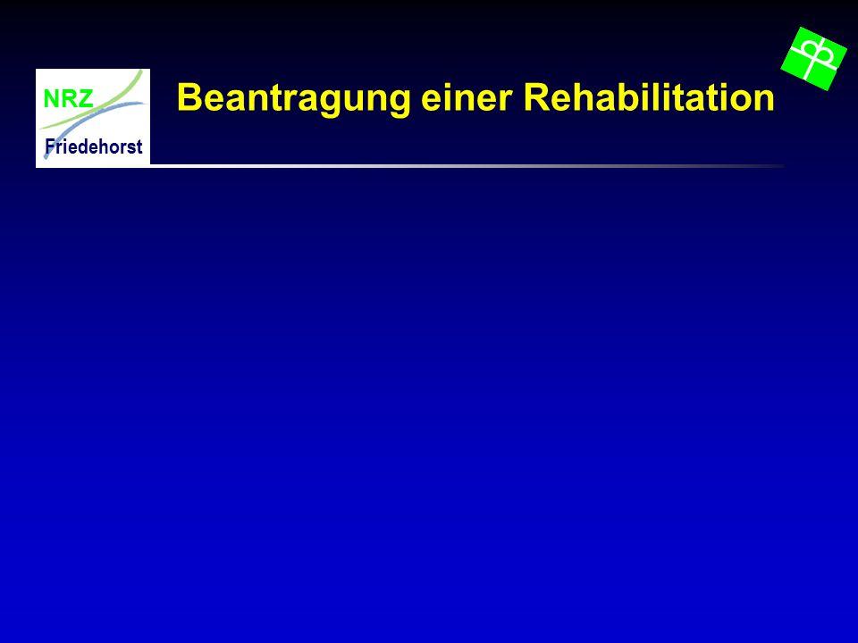 NRZ Friedehorst Beantragung einer Rehabilitation