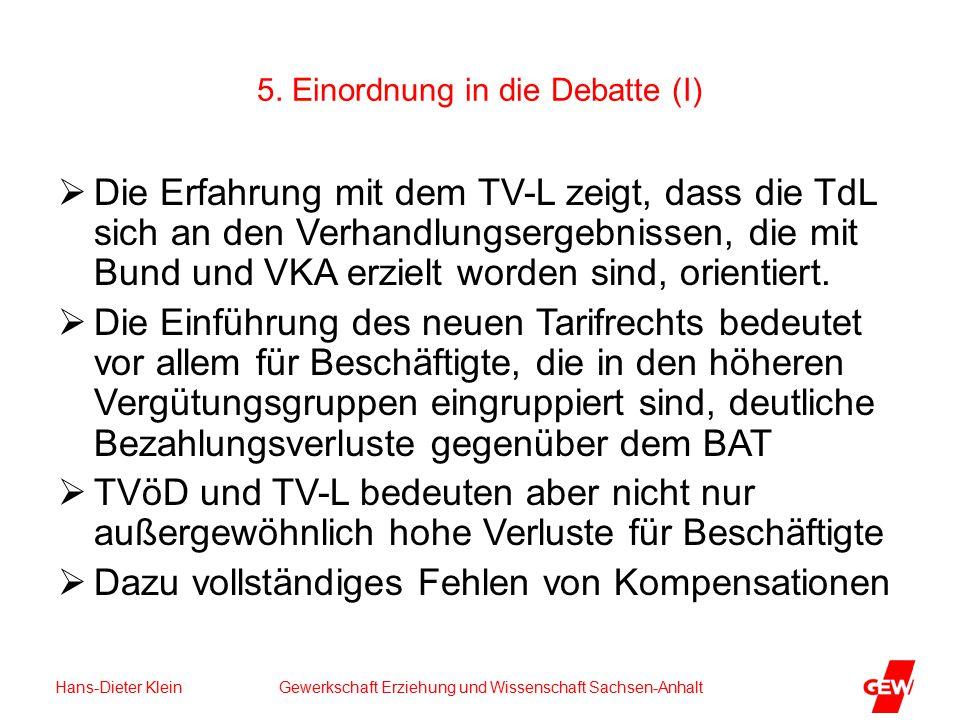 Hans-Dieter Klein Gewerkschaft Erziehung und Wissenschaft Sachsen-Anhalt 5.
