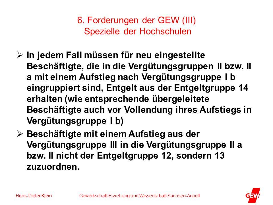 Hans-Dieter Klein Gewerkschaft Erziehung und Wissenschaft Sachsen-Anhalt 6.