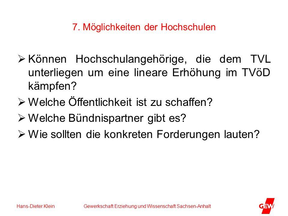 Hans-Dieter Klein Gewerkschaft Erziehung und Wissenschaft Sachsen-Anhalt 7.