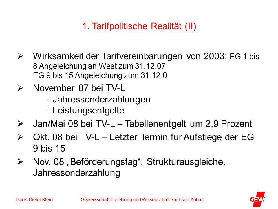Hans-Dieter Klein Gewerkschaft Erziehung und Wissenschaft Sachsen-Anhalt 1.