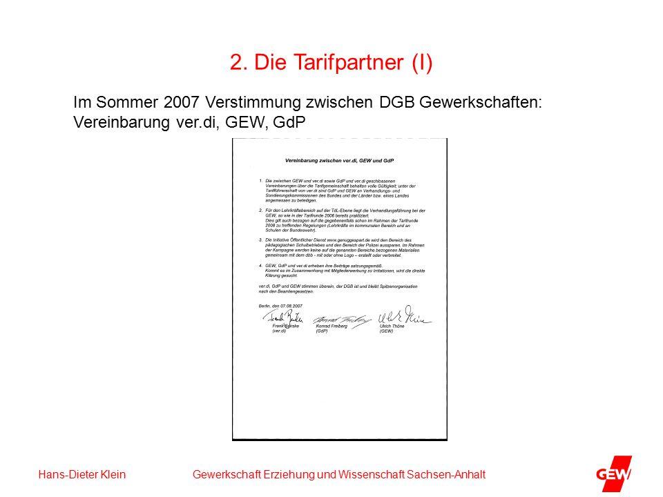 Hans-Dieter Klein Gewerkschaft Erziehung und Wissenschaft Sachsen-Anhalt 2.