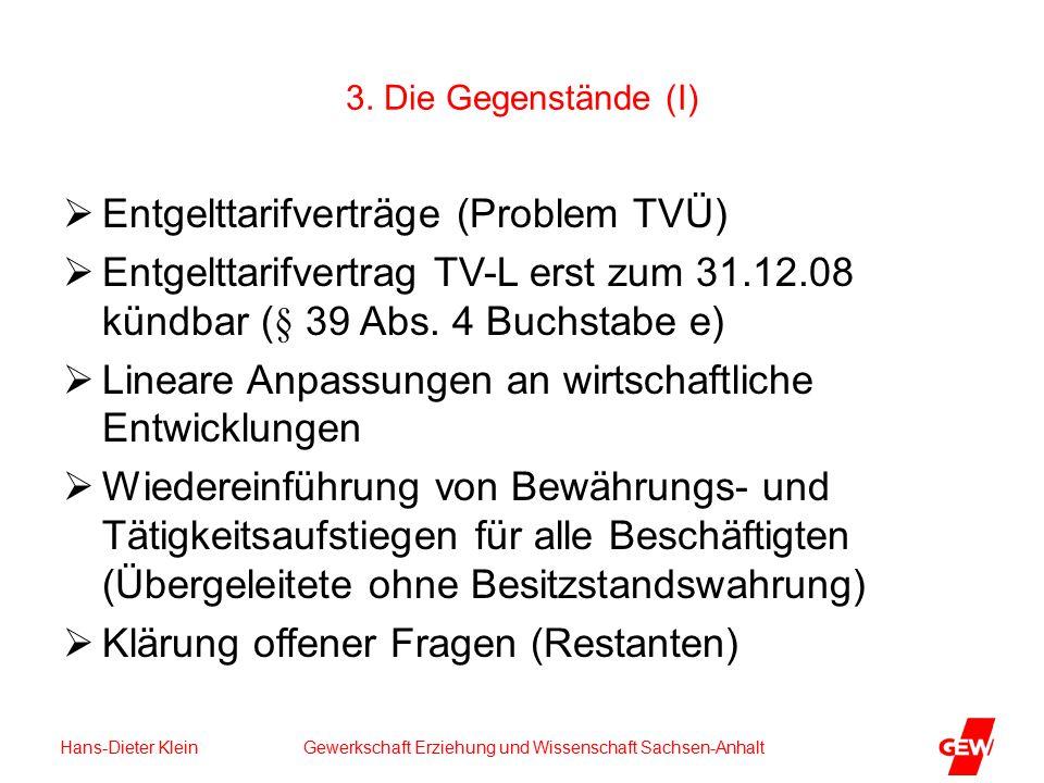 Hans-Dieter Klein Gewerkschaft Erziehung und Wissenschaft Sachsen-Anhalt 3.