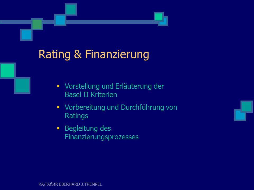 RA/FAfStR EBERHARD J.TREMPEL Bewertung von Praxen, Anteilen und Betrieben Ertragswert ideeller Wert Substanzwert stille Reserven vereinfachtes Verfahren Auseinandersetzungswert Grenzwert