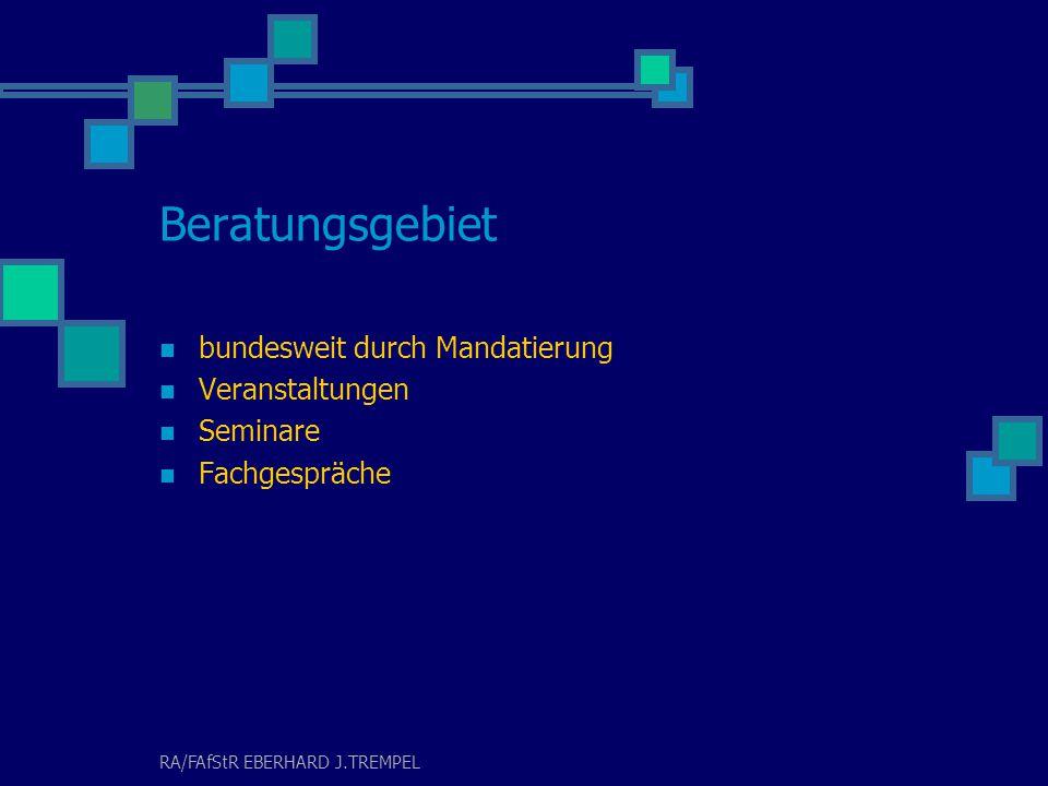 RA/FAfStR EBERHARD J.TREMPEL Erbschafts- und Nachfolgeberatung Steuergestaltung Erhalt von Betriebsvermögen Vorsorge und Sicherung Verkauf, Spaltung Problem: Betriebsaufspaltung und deren Beendigung
