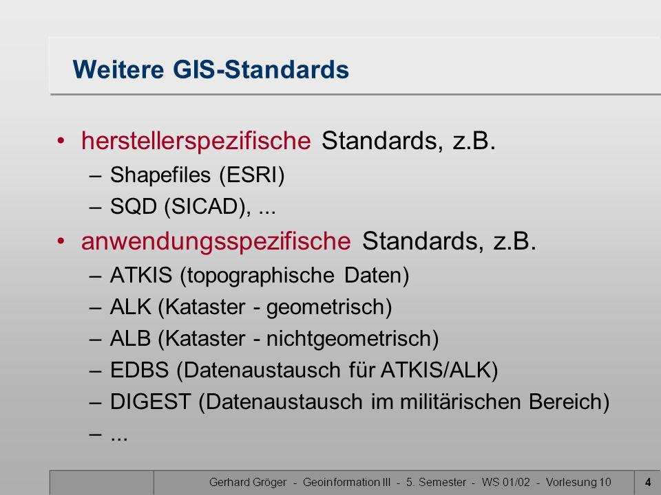 Gerhard Gröger - Geoinformation III - 5.