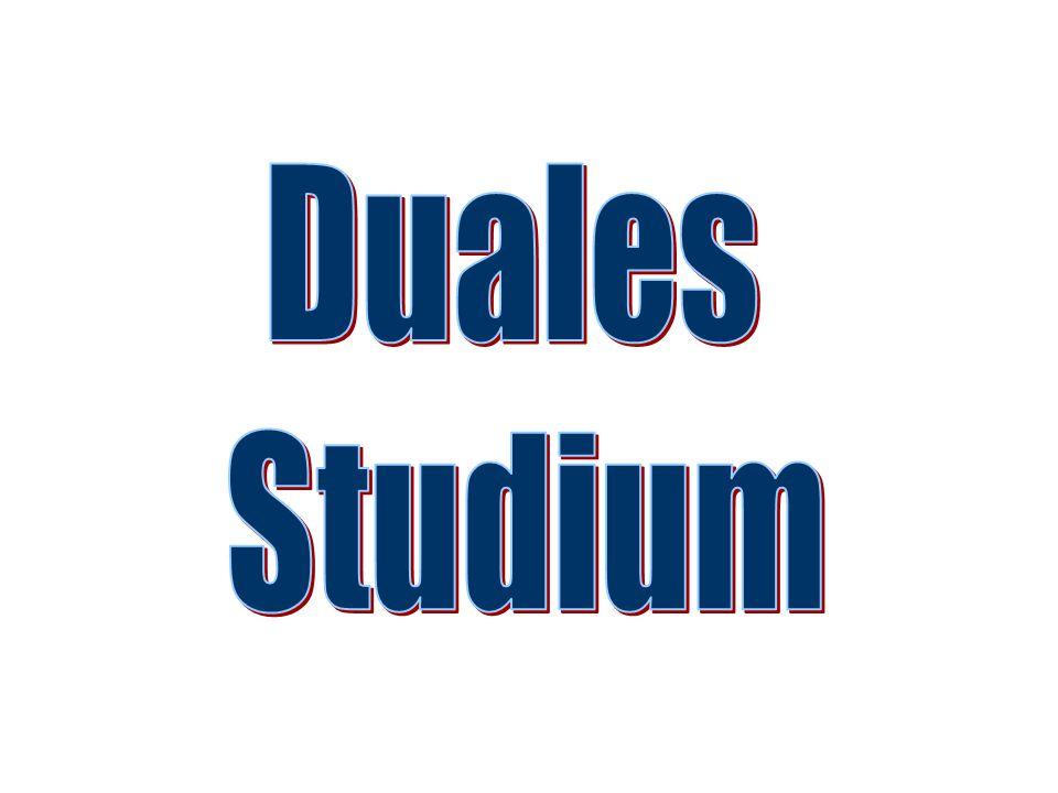 Duales Studium Voraussetzungen: Je nach Betrieb: Abitur oder Fachhochschulreife Abschluss eines Ausbildungsvertrages mit einem Unternehmen (Ausbildung zum/zur Außenhandelskaufmann/-frau, Laufzeit 3 Jahre)
