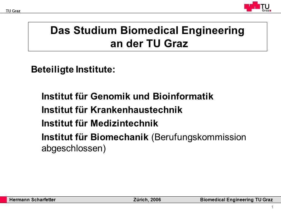 TU Graz Professor Horst Cerjak, 19.12.2005 2 Hermann Scharfetter Zürich, 2006 Biomedical Engineering TU Graz Allgemeine Informationen Studienkommission: Vorsitzender: N.