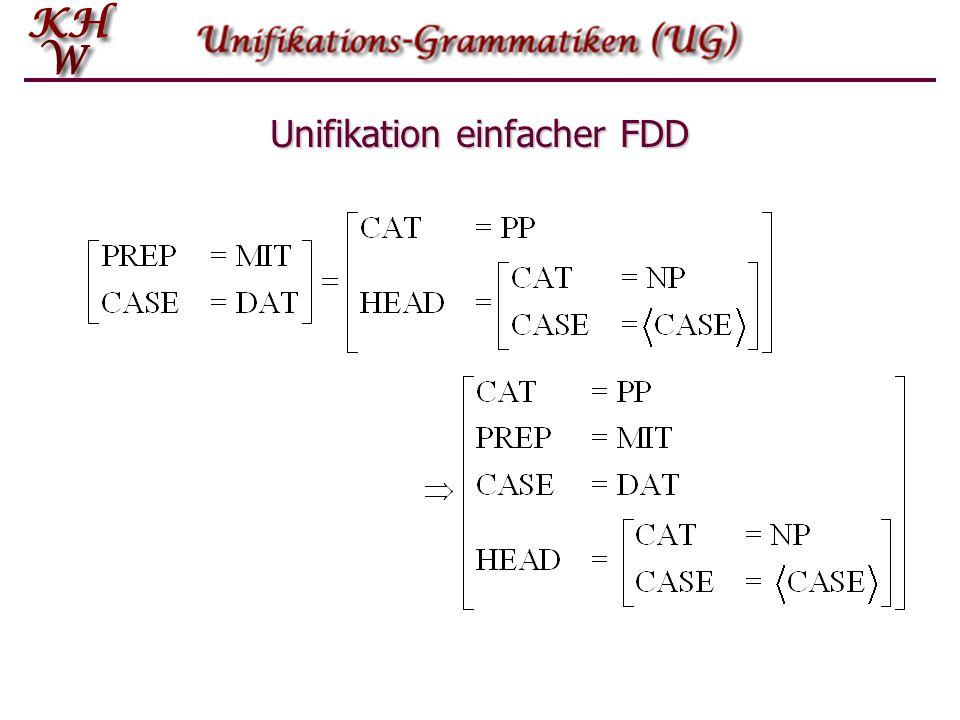 Unifikation einfacher FDD