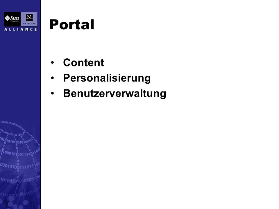 Portal Content Personalisierung Benutzerverwaltung