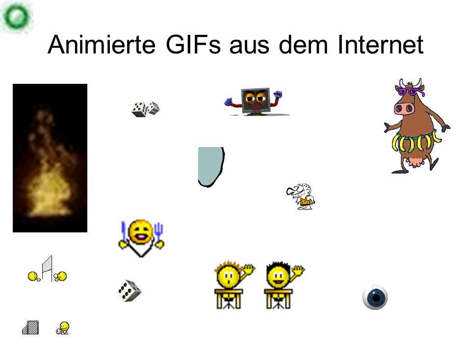 Animierte GIFs aus dem Internet