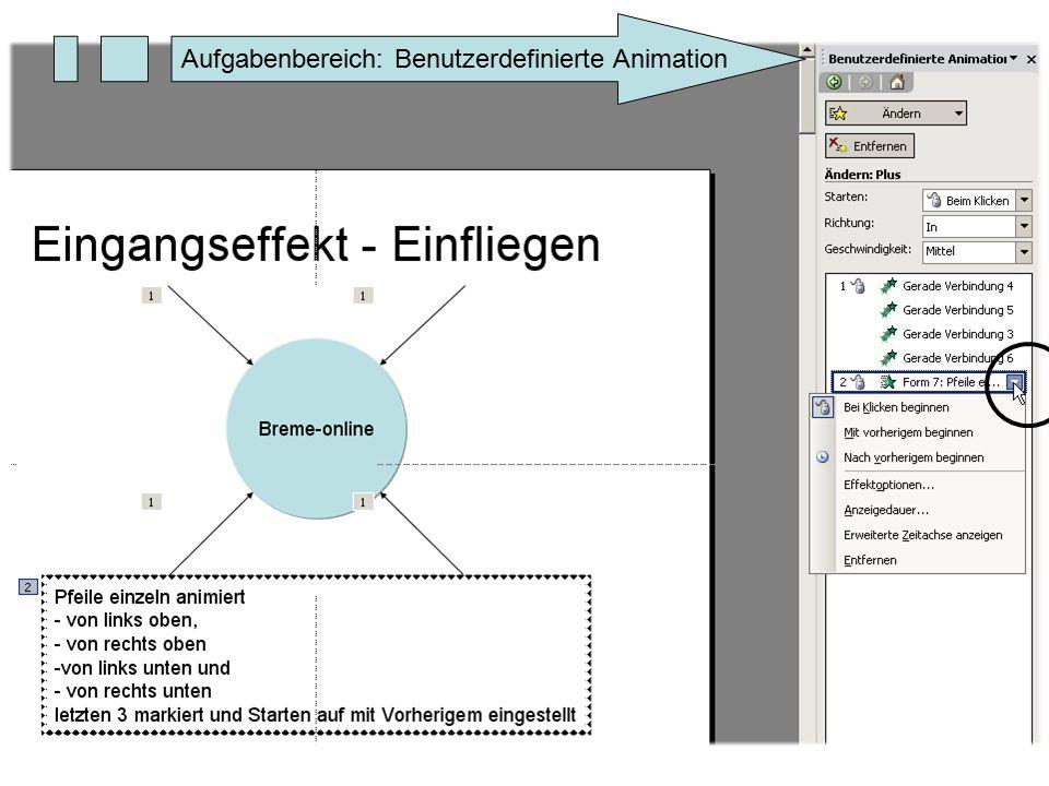 Aufgabenbereich: Benutzerdefinierte Animation