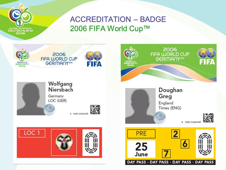 ACCREDITATION – BADGE 2006 FIFA World Cup™
