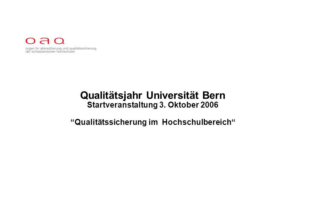 Qualitätsjahr Universität Bern Startveranstaltung 3.