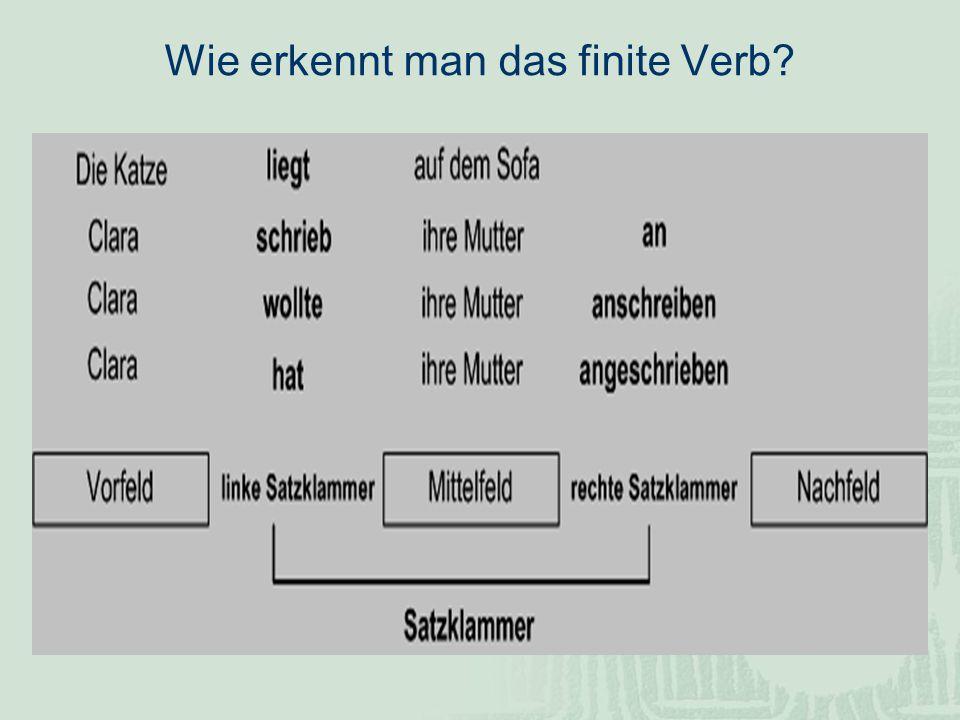Wie erkennt man das finite Verb?