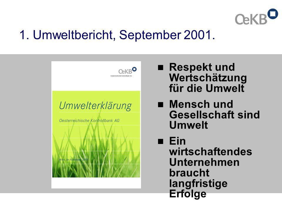 1. Umweltbericht, September 2001.