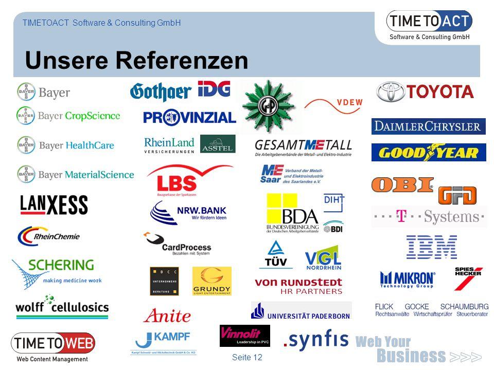 Seite 12 Unsere Referenzen TIMETOACT Software & Consulting GmbH