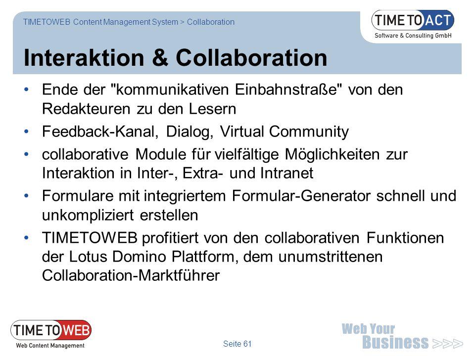 Seite 61 Interaktion & Collaboration Ende der