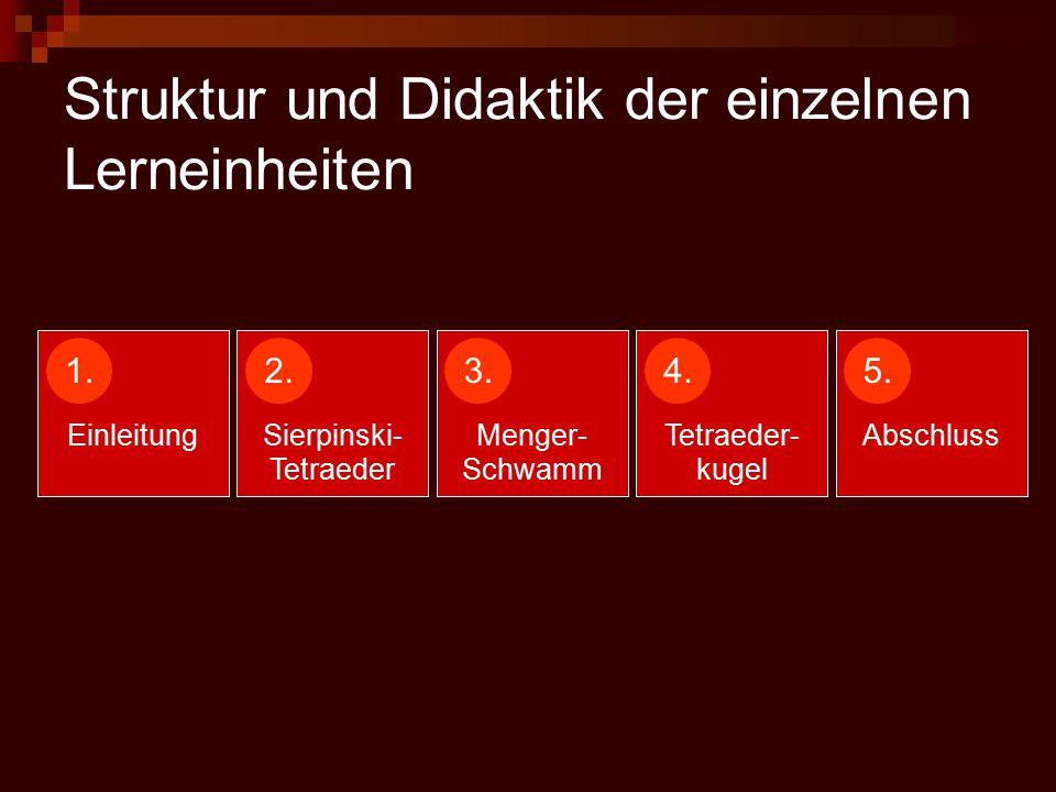 Struktur und Didaktik der einzelnen Lerneinheiten 1.