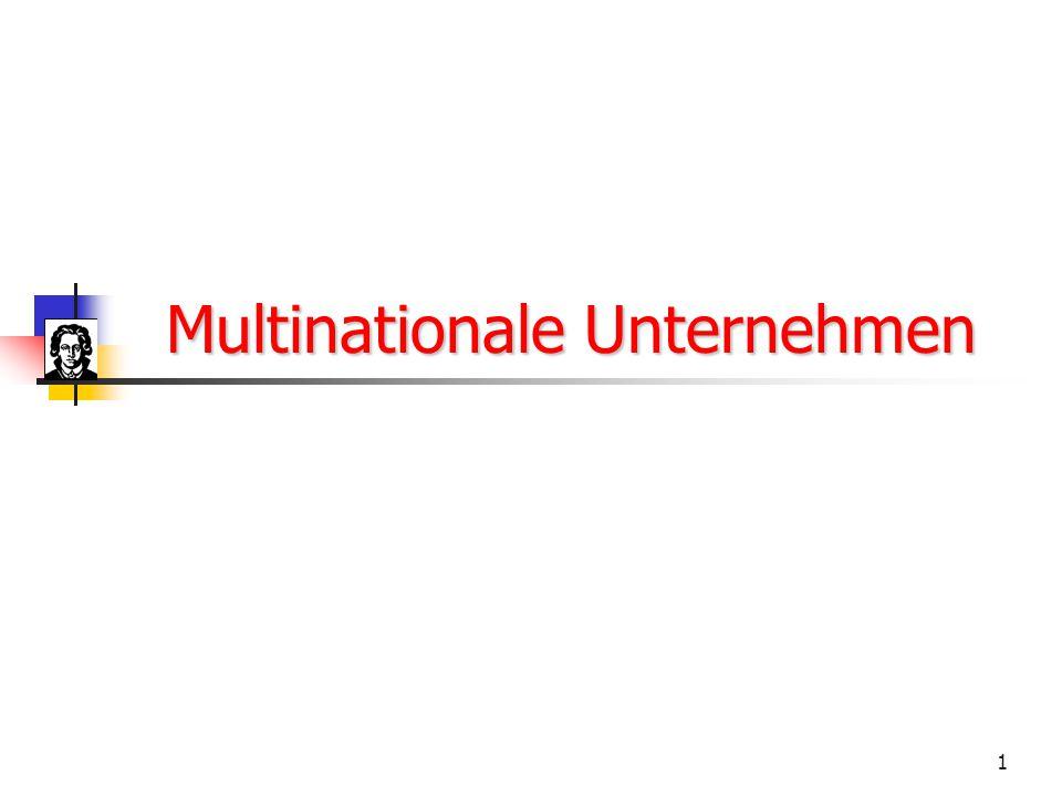 1 Multinationale Unternehmen