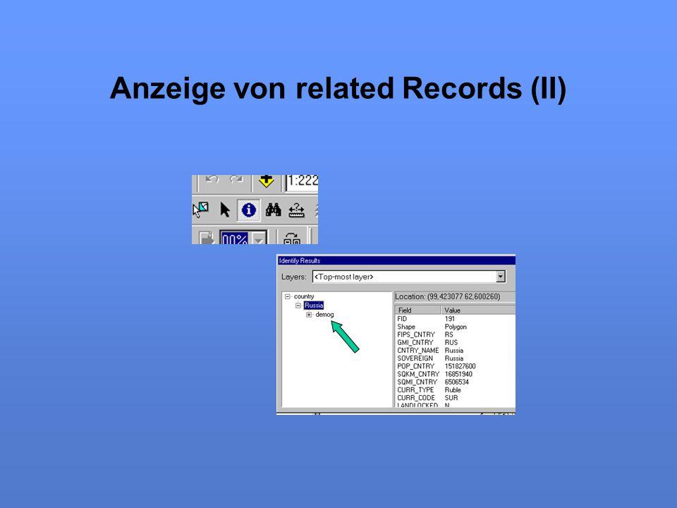 Anzeige von related Records (II)