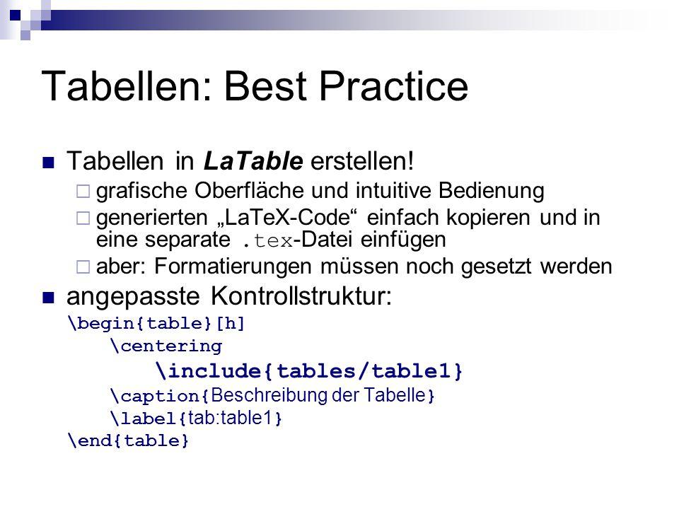 """Tabellen: Best Practice Tabellen in LaTable erstellen!  grafische Oberfläche und intuitive Bedienung  generierten """"LaTeX-Code"""" einfach kopieren und"""