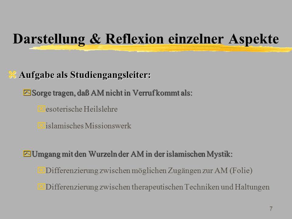 8 Historische Aspekte der AM: Zwei Anwendungsebenen zSpitäler: yMusiktherapie als medizinische Hilfsdisziplin seit 9.