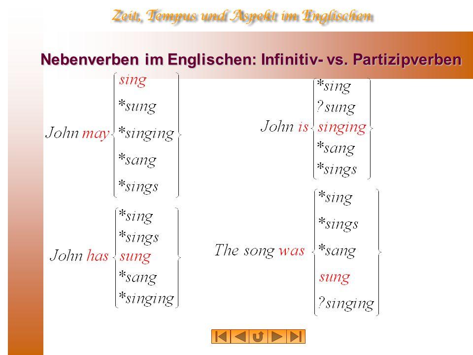 Nebenverben im Englischen: Infinitiv- vs. Partizipverben