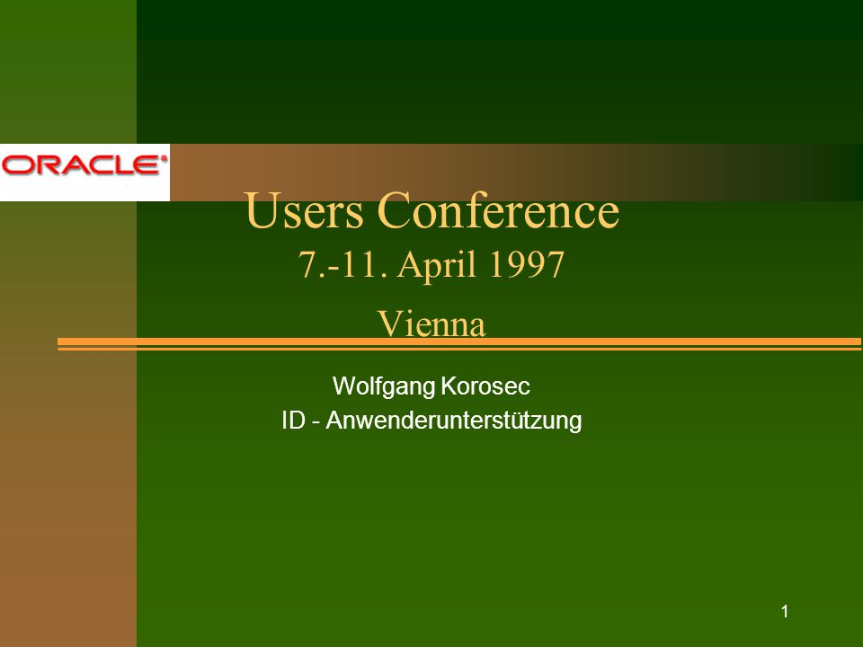 Oracle Users Conference W.