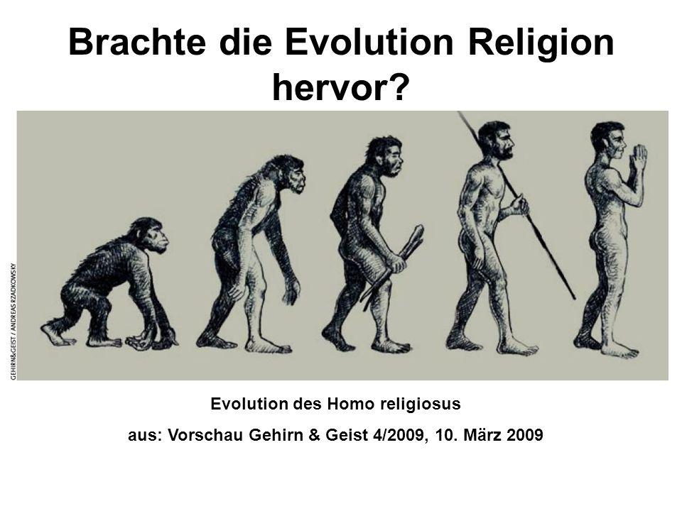Brachte die Evolution Religion hervor? Evolution des Homo religiosus aus: Vorschau Gehirn & Geist 4/2009, 10. März 2009