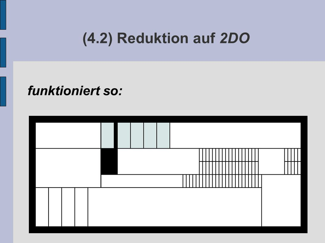 (4.2) Reduktion auf 2DO funktioniert so: