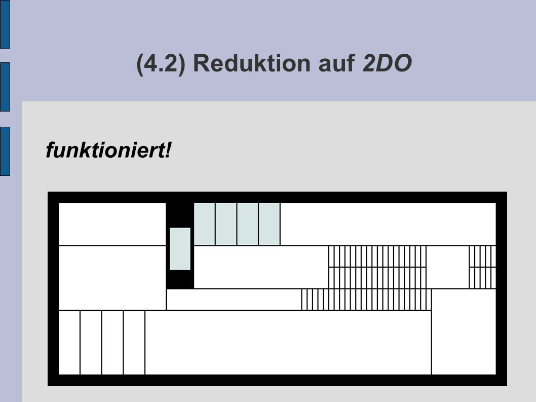 (4.2) Reduktion auf 2DO funktioniert!