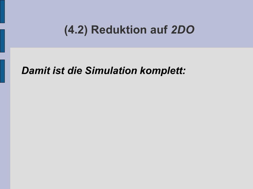 (4.2) Reduktion auf 2DO Damit ist die Simulation komplett:
