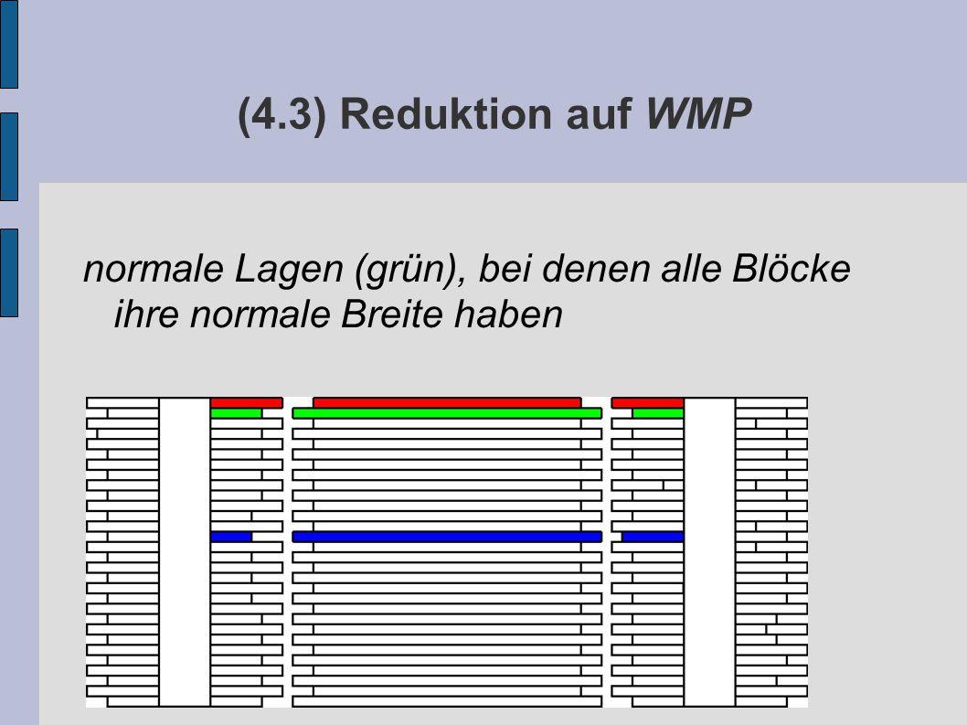 (4.3) Reduktion auf WMP normale Lagen (grün), bei denen alle Blöcke ihre normale Breite haben