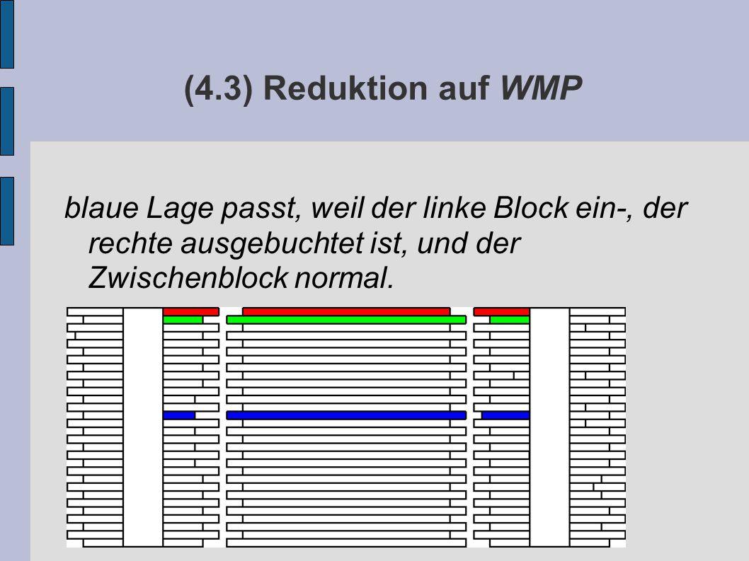 (4.3) Reduktion auf WMP blaue Lage passt, weil der linke Block ein-, der rechte ausgebuchtet ist, und der Zwischenblock normal.